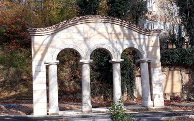 Les arcades historiques de l'ancien  pavillon thermal  enfin restaurées